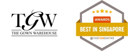 Featured as Best Wedding Gown Rental in Singapore by The Fun Empire